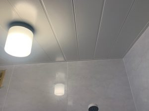 浴室の天井をバスフィットパネルでリフォーム