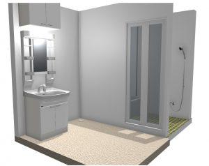 調布のお風呂と洗面のリフォームイメージ